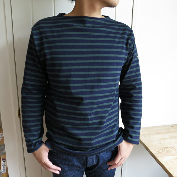 Saint James セントジェームス Ouessant ウェッソン Navy/Pin