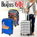 Suitcase carry case hard carry travel bag! The Beatles THE BEATLES ビートルズオフィシャル suit case 60 litter be103 mens ladies carry bag medium-sized school trips