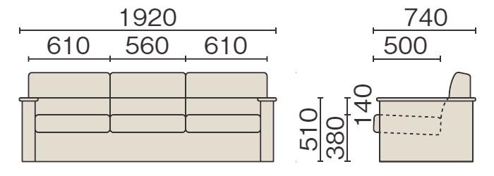 RS-3430Nのサイズイメージ