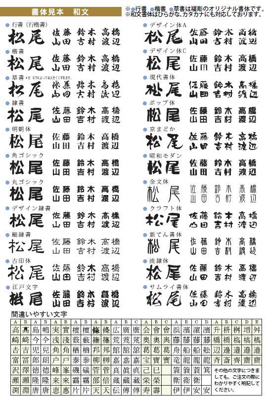 日文汉字日语字体放大字符.