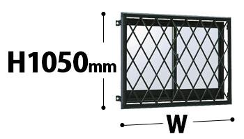 ラチス面格子2LA 高さ10500mm