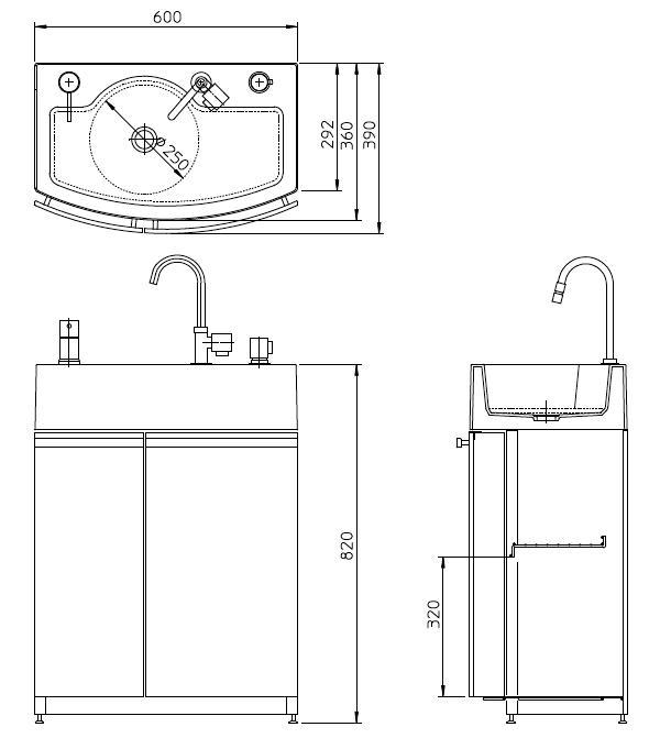 ガーデンドレッサー/寸法図