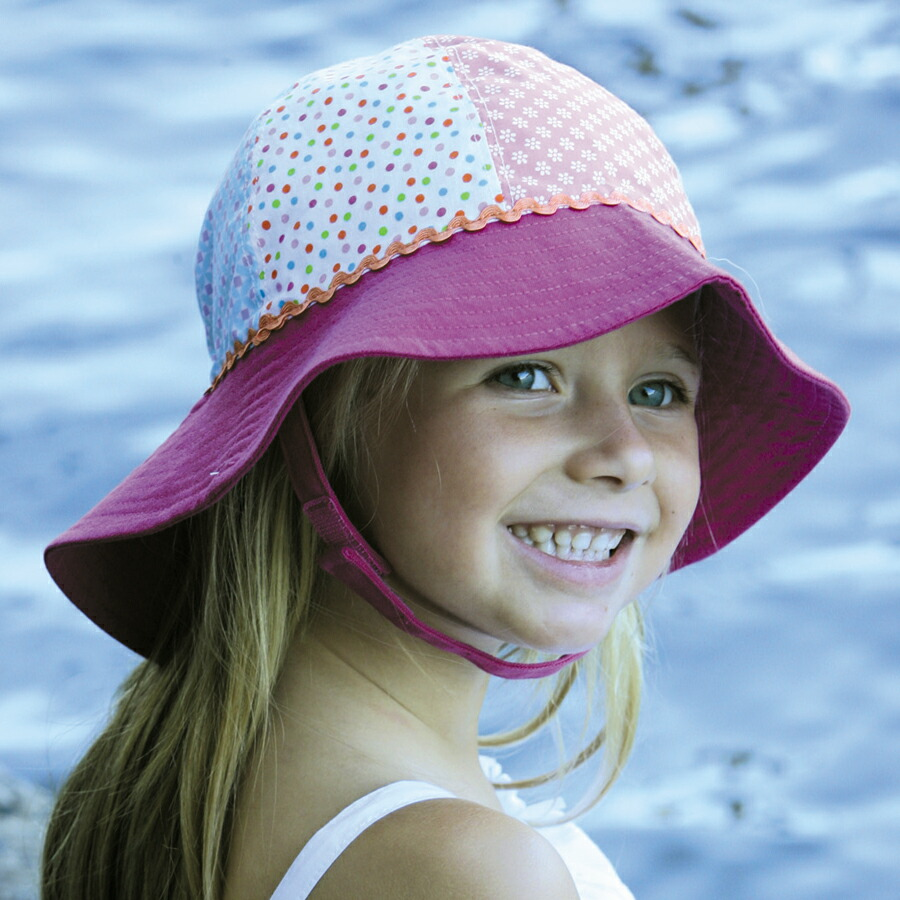 The Flap Sun Protection Hat protects baby's head, neck, and eyes while Sealike Chic Butterfly Sun Hat Wide Brim Summer Sun Visor Floppy Fold Beach Hat for Women Girls with Stylus White by Sealike.