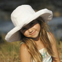 UV 컷 모자 (어린이)-어린이 모자-ビッグブリム 리본 하트 화이트 53cm 어린이 아동 KIDS ※ 자외선 컷 (UV 컷) 최대값 UPF50 + fs3gm