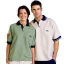 Leisure Wear - Adults Woven Polo S/S UPF50+ EXCELLENT PROTECTION which blocks >97.5% of the sun's UV radiations giving excellent protection