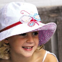 UV 컷 모자 (어린이)-키즈 KIDS 모자-와이드 부 림 아플 리 케 햇 플라이 아 아 kids ※ 자외선 컷 (UV 컷) 최대값 UPF50 + fs3gm