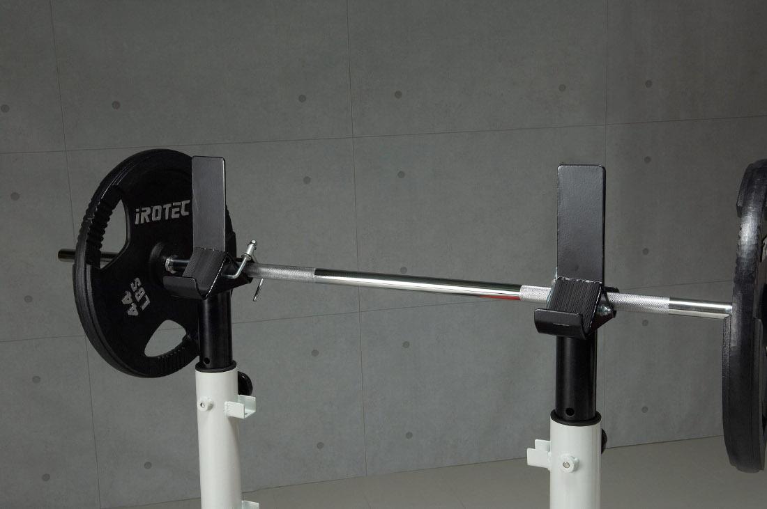 IROTEC アイロテック 筋トレ パワーラック ベンチプレス トレーニング器具 スクワット