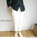 72389 DEEP BLUE Deep Blue cotton hemp white denim design 5P underwear full-length D - プ bulldog - Lady's mail order