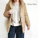 10% off coupon distribution in DEEP BLUE deep blue 72394 wool melange shawl collar down jacket di - plastic-Bull - women's