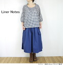 Until the 3 / 1 Liner Notes liner 07037 cotton Voile gingham check roll neck blouse Womens