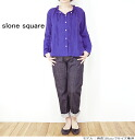 Up to 2 / 13 slone square スロンスクエア 8627 l East linen collar ruffle wrap blouse Womens