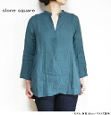 10% off coupon & point up to 29 x 28 (Tue) 10: 00 slone aquare slum square 8658 East Cook linen stand key neck shirts blouses women's