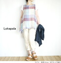 It is Lokapala ロカパラ LP140335 linen block check no sleeve tunic Lady's to 4/25