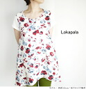 It is Lokapala ロカパラ LP140329 linen floral design pt A-line pullover no sleeve tunic Lady's to 4/25