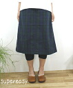 PRIT pret cotton hemp Black Watch skirt-71329 ladies