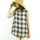 Up to 4 / 25 prit pret 撚リ 40 / 1 Qiang NEN block check ノー Sri and pull over 82341 ladies