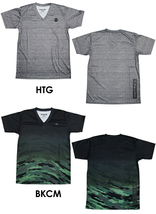 Hurleyハーレーサーフィンウェットスーツラッシュガード紫外線対策半袖16su●RASHV-TEEMKSSLY56