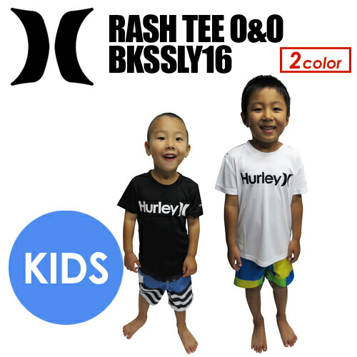 Hurleyハーレーラッシュガード半袖紫外線対策KIDS子供16ss●RASHTEEO&OBKSSLY16