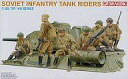 Plastic model plastic model 1/35 Soviet Union tank embarkation foot soldier