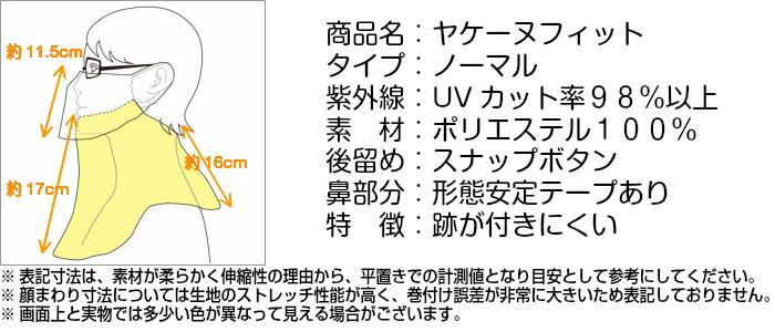 ヤケーヌフィットノーマル商品表記