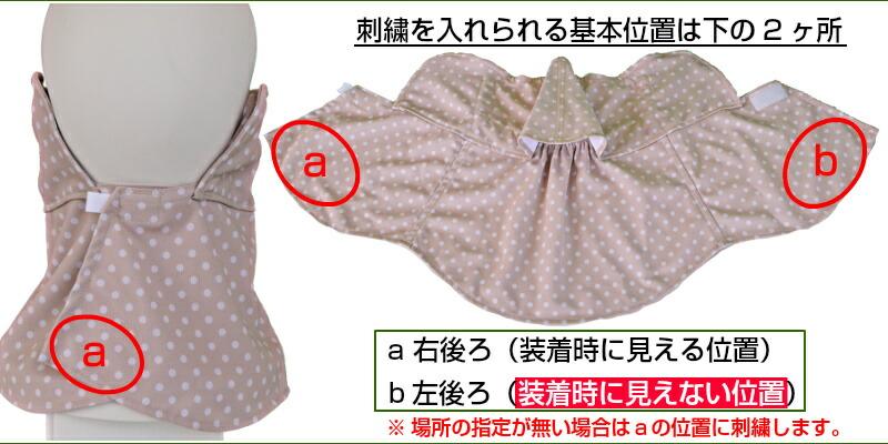 刺繍位置の説明