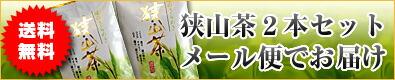 メール便対応1000円狭山茶2本セット