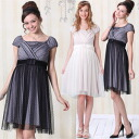 Dot Tulle Formal Maternity and Nursing Dress