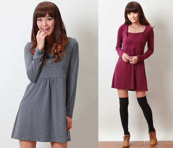 Crew neck tunic [candy Lee] with the nursing function