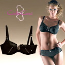 CacheCoeur France imported マタニティランジェリー リサシリーズ Wire feeding bra black s breastfeeding clothes / birth preparation / large size nursing bra / bra / inner underwear.""