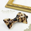 Tortoiseshell Ribbon Barrette ◆ Valletta, tortoiseshell, Ribbon, Leopard, Womens /Sweet &Sheep