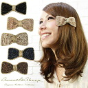 &Sheep women's Sweet glitter Ribbon Barrette ◆ sequin Ribbon Barrette