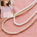 Pearl Pearl Necklace party wedding long 2-formal accessories fake plastic Pearl Womens Sweet &Sheep select ◆ long 4 mm Pearl Necklace