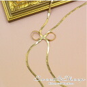 Cute simple gold elegance glitter necklace light all-season daily Ribbon long necklace women's Sweet &Sheep. ◆ simple Ribbon gold long necklace