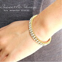 Beautiful bracelet with Rhinestone simple gold enhance women's Sweet &Sheep select Access ◆ 2-Gold rhinestone bracelet