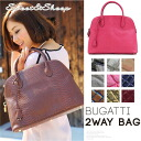 Bag leather Python shoulder handbag women's Sweet &Sheep select ◆ Bugatti real leather Python-embossed 2 WAY bag