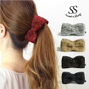 (★ Sweet &Sheep ツィードリボン banana clip Ribbon banana clip Tweed ★ 3 color ★