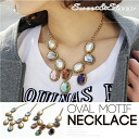 Costume jewelry necklace motif Lady's Sweet & Sheep RITA ◆ Oval motif volume necklace
