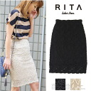 Skirt medium length きれいめ race Lady's Sweet & Sheep RITA ◆ stretch race pencil skirt