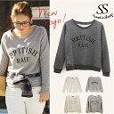 Tops trainer casual athletic meet きれいめ Lady's Sweet & Sheep ◆ logo sweat shirt