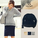 Warm tops mohair knit bloggers long-popular trend women's Sweet &Sheep original ◆ mohair knit pullover
