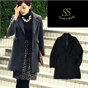 Outerwear high-quality wool coat parties party Chester ceremonial black gray women's Sweet &Sheep original ◆ mens like coat