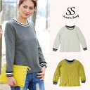 Clean cut so thin sweatshirts line casual adult order simple women's Sweet &Sheep original ◆ line with wafflelongkatsaw