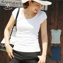 T shirt cotton material plain simple adult cut-off ladies Sweet &Sheep ◆ short sleeve cotton tee