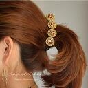 Banana clip beads glitter hair band heaakuse ladies accessory accessories heaakuse ◆ ゴールドラメステッチ Bijou with banana clips