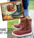 Kids Western boots 15 cm-23 cm HANG TEN HT-2343 Western boots and hunters BOOTS kids junior kids BLACK (black) BEIGE (Beige) / fs2gm RED/BROWN (red/brown)