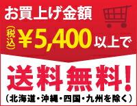 お買上げ5,400円以上(税込)で送料無料!