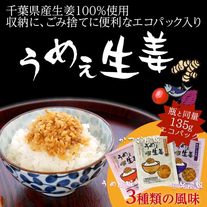 千葉県産生姜100%使用!  収納に,ごみ捨てに便利なエコパック入り「うめぇ生姜」