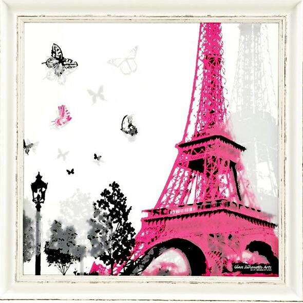Eiffel tower s  Eiffel Tower Silhouette Pink