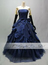 Colored racesless ★ princess line ★( blue) long dress ★ 52893 of the size order back laceup & chambermaid ribbon