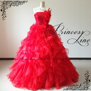 ♪ reviews posted in Accessories giveaway!-gorgeous luxury lace, beads and flower corsage ☆ ruffle dress ★ Princess line ★ 9-No. 11-no. 13-No. 15 (crimson red, red) 01280 FK